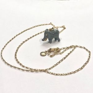 J. Crew Elephant Pendant necklace